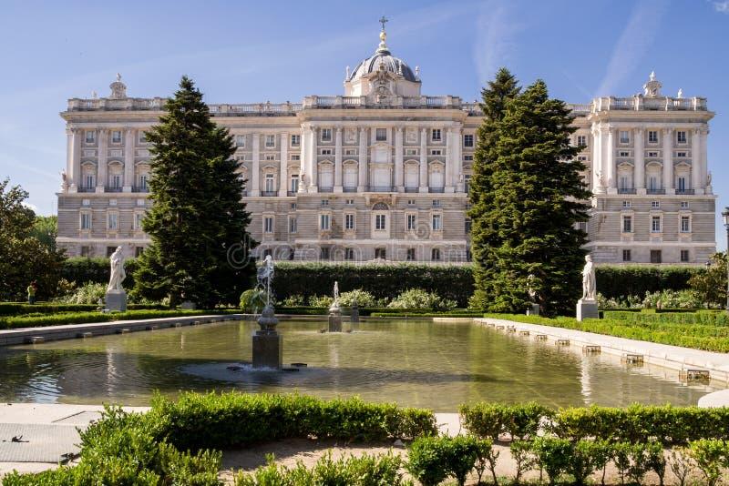 Kunglig slott i Madrid, Spanien arkivbild