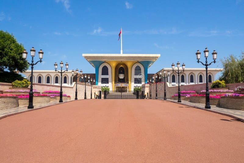 Kunglig slott i Muscat, Oman royaltyfri fotografi