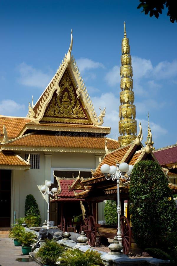 Kunglig slott, Phnom Penh, Cambodja fotografering för bildbyråer