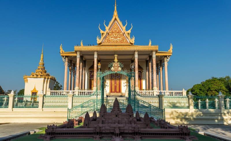 Kunglig slott, Phnom Penh, Cambodja royaltyfria foton