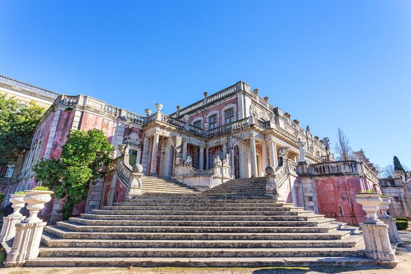 Kunglig slott Queluz arkivbild