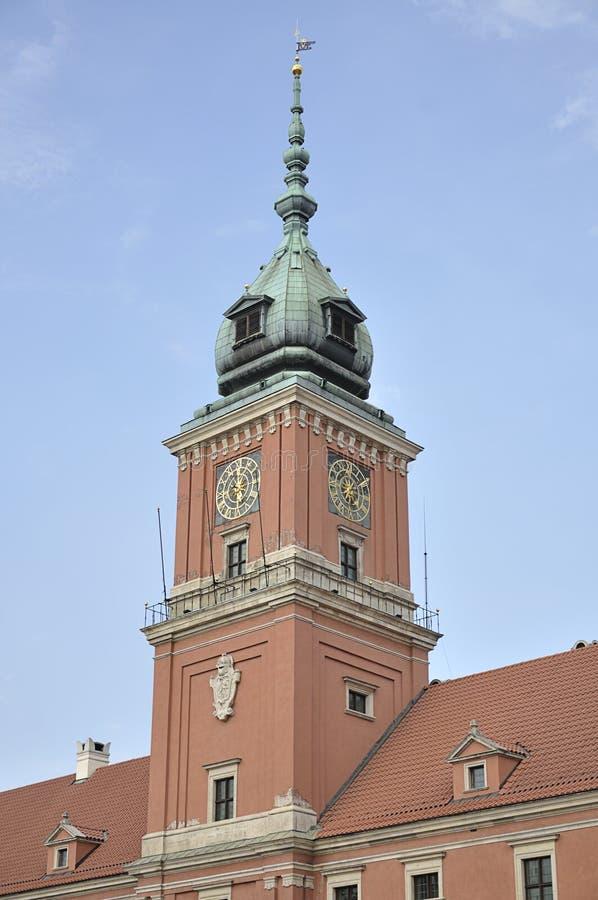 Kunglig slott, Warszawa, Polen royaltyfria bilder