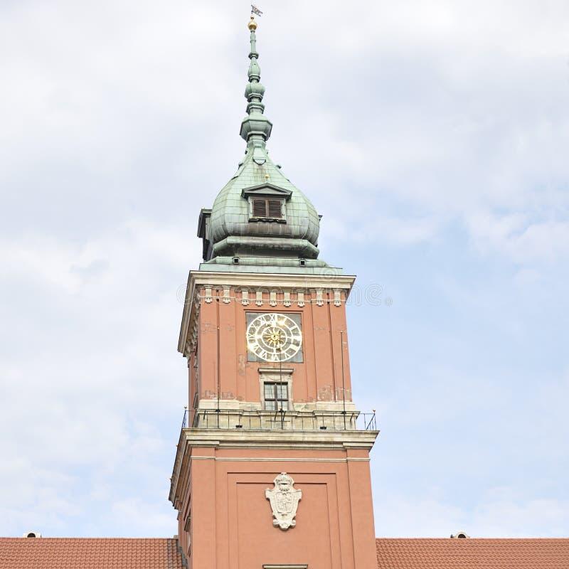 Kunglig slott, Warszawa, Polen arkivfoto