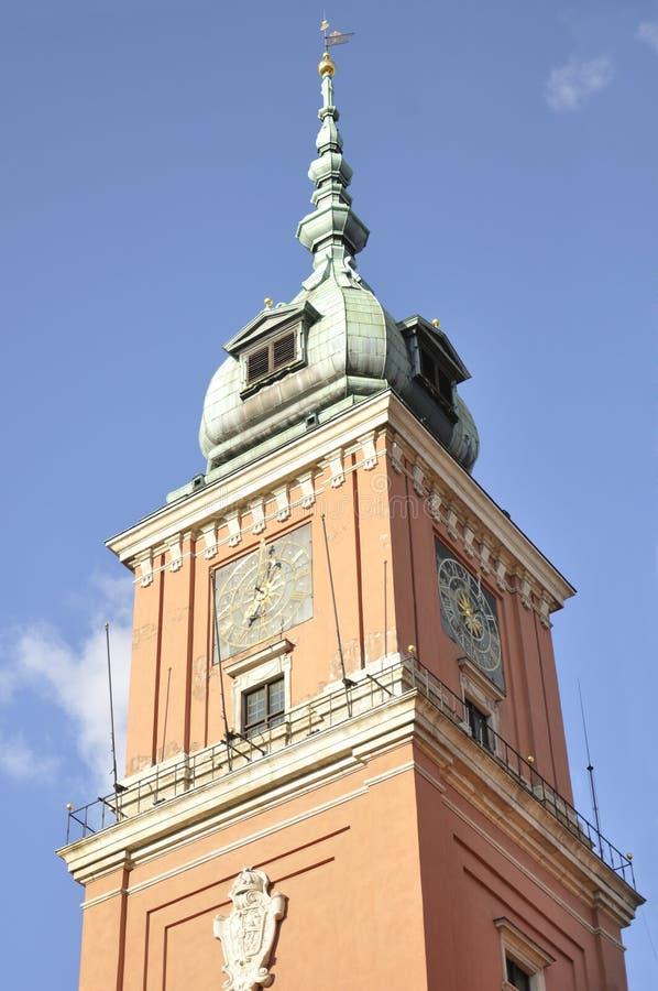 Kunglig slott, Warszawa, Polen royaltyfria foton