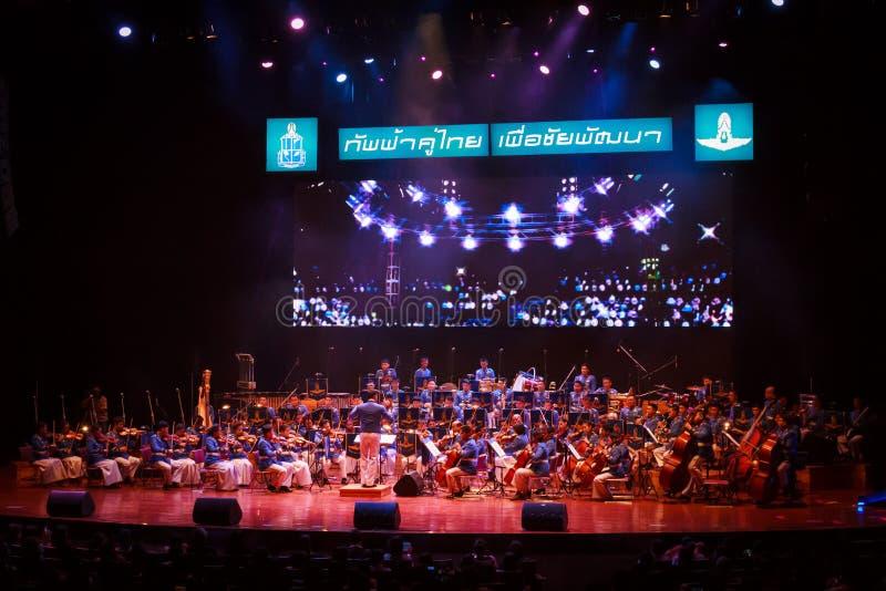 Kunglig thailändsk flygvapensymfoniorkester royaltyfria foton