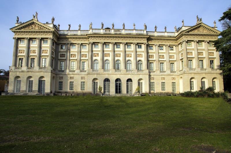 Kunglig villa av Milan, Italien royaltyfri fotografi