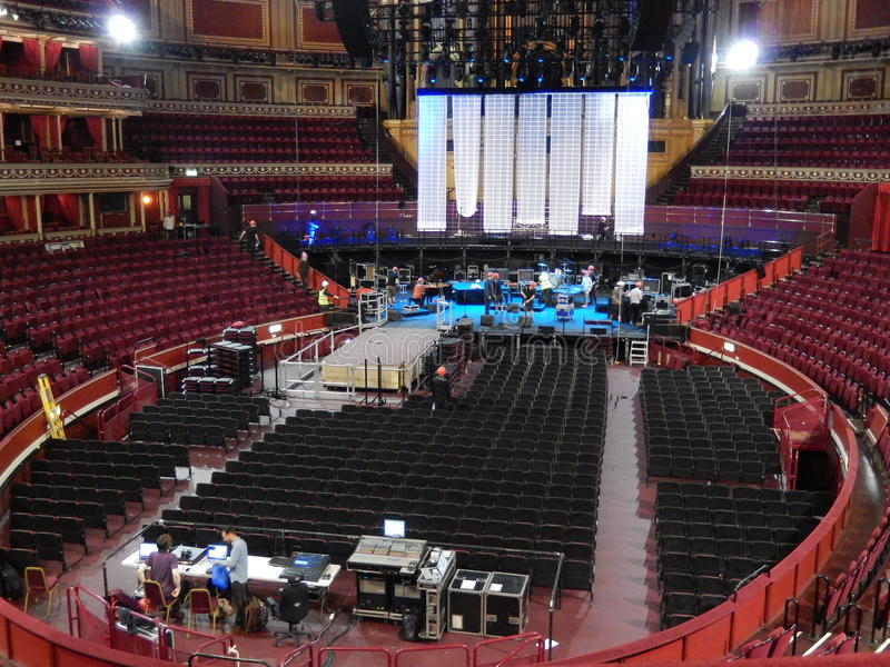 Kungliga Albert Hall, inom, London, UK arkivbild