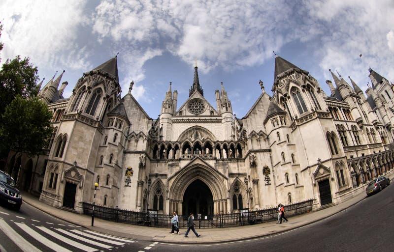 Kungliga domstolar av rättvisa i London royaltyfri fotografi