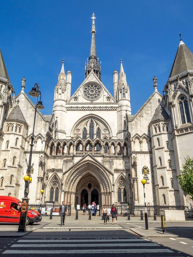 Kungliga domstolar i London England royaltyfri fotografi