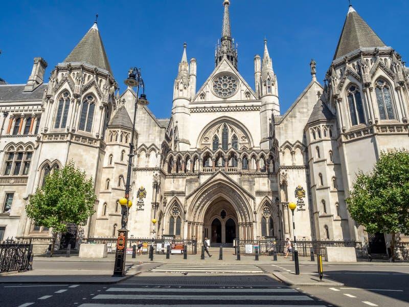 Kungliga domstolar i London England fotografering för bildbyråer