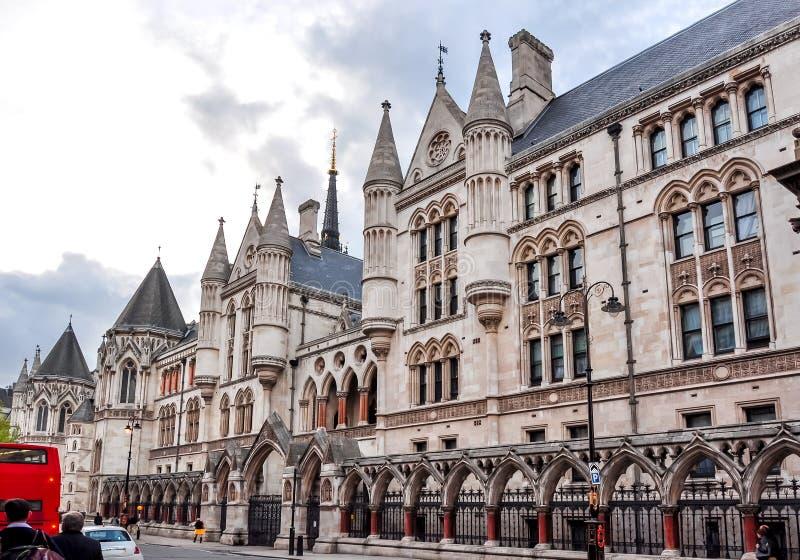 Kungliga domstolar, London, UK arkivbilder