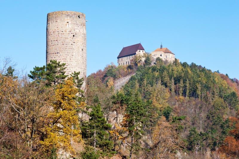 Kungliga gotiska slottar Zebrak och Tocnik, central bohemisk region arkivfoton