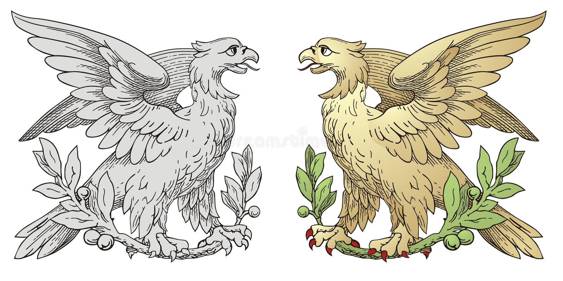 Kungliga griper stock illustrationer
