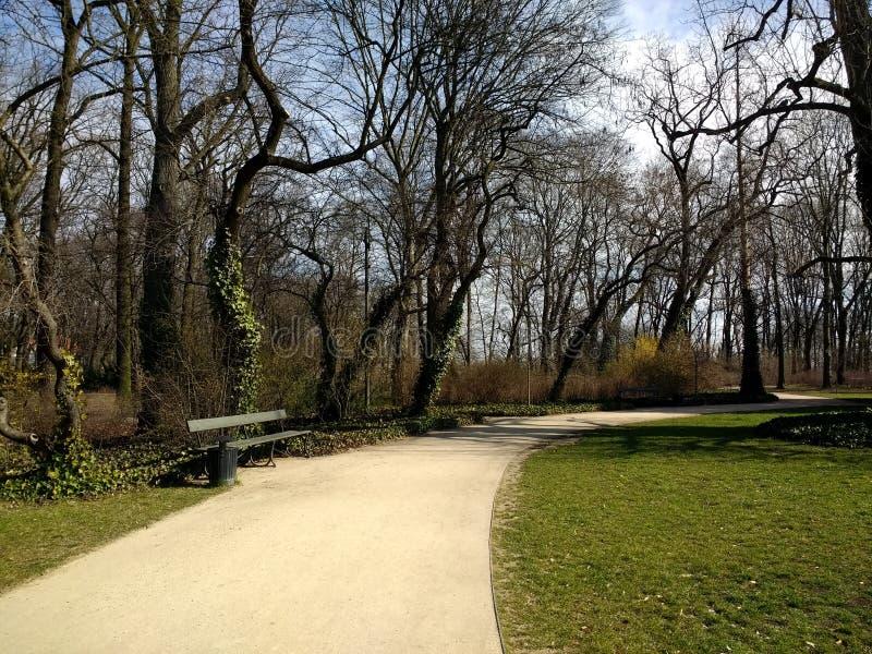 kungliga parksbad i Warszawas poland arkivfoto