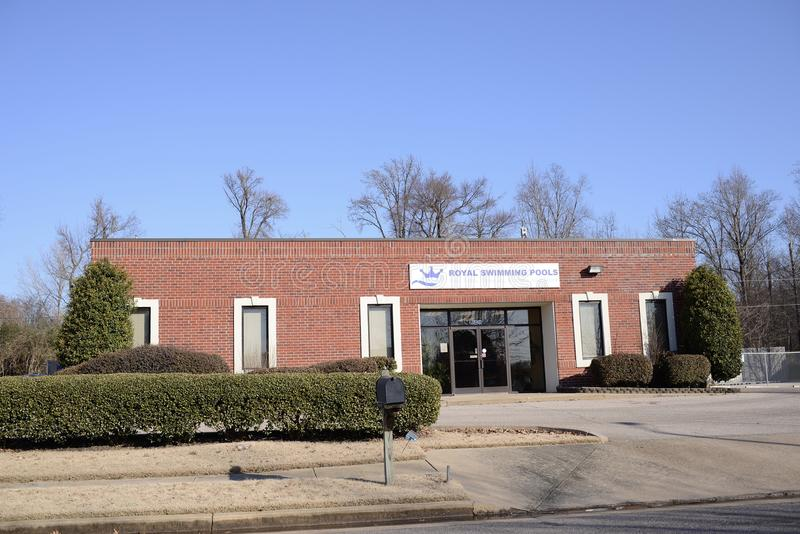 Kungliga simbassänger, Memphis, TN royaltyfri bild