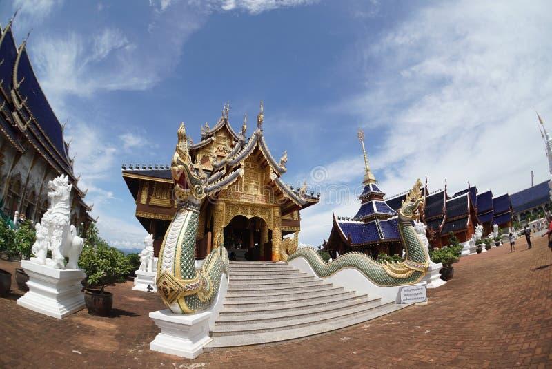 Kungligt floratempel (ratchaphreuk) i Chiang Mai, Thailand arkivbild