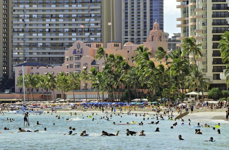 Kungligt hawaianskt rosa hotell royaltyfria bilder
