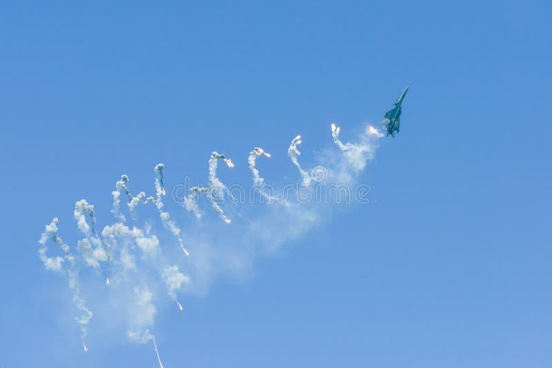 Kungligt malaysiskt flygvapen på Singapore Airshow royaltyfri bild