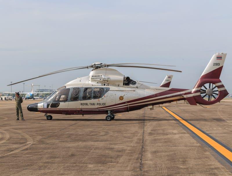 Kungligt thailändskt polisflygplan arkivfoto