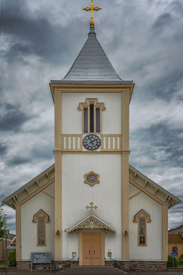 Kungsbacka kościół w Szwecja fotografia stock