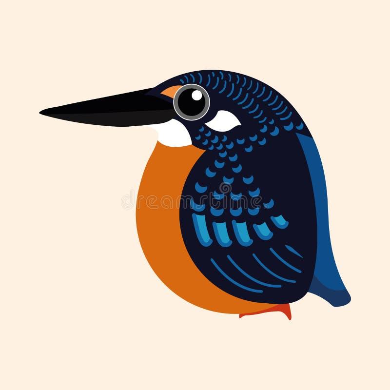 Kungsfiskaretecknad filmvektor, vektor för tecknad film för kungsfiskare för Blyth ` s royaltyfri illustrationer