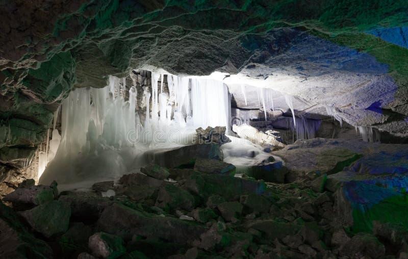 kungur льда grotto подземелья стоковые изображения