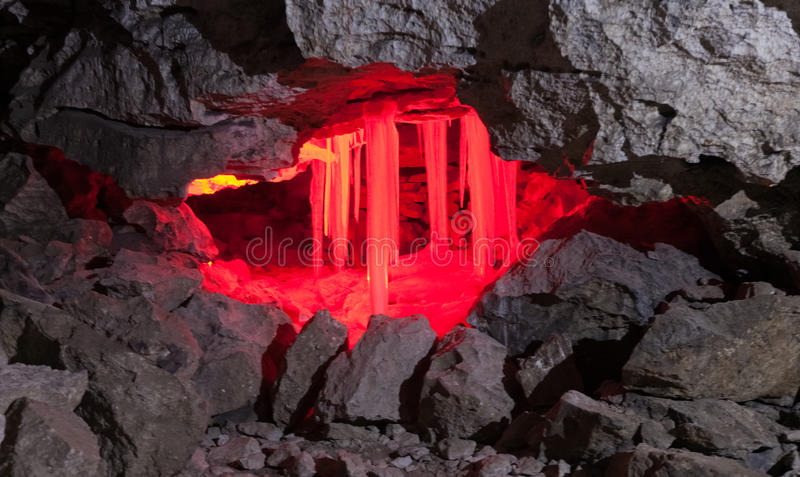 kungur льда grotto подземелья стоковые изображения rf