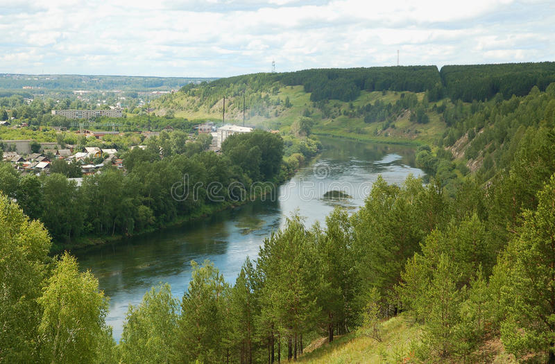 Kungur, river Sylva. Russian Federation, Kungur, river Sylva stock photo