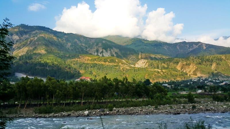 Kunhar-Fluss stockfotografie