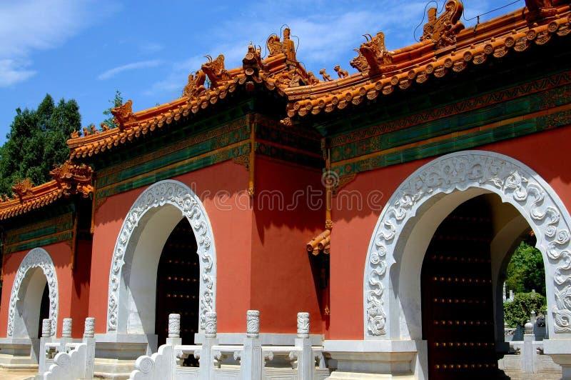 Kunming, China: Beijing Garden Gate at Horti-Expo Park royalty free stock photo