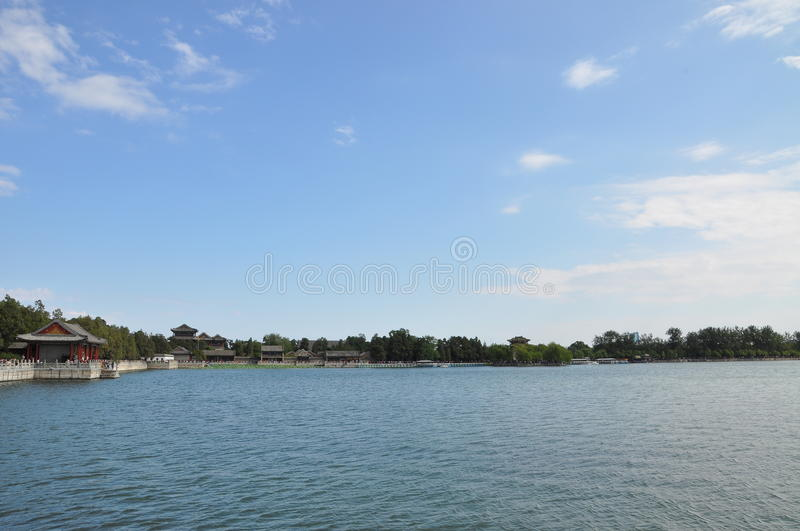 Kunming lake. The Kunming lake in Summer Palace, Beijing, China stock photo