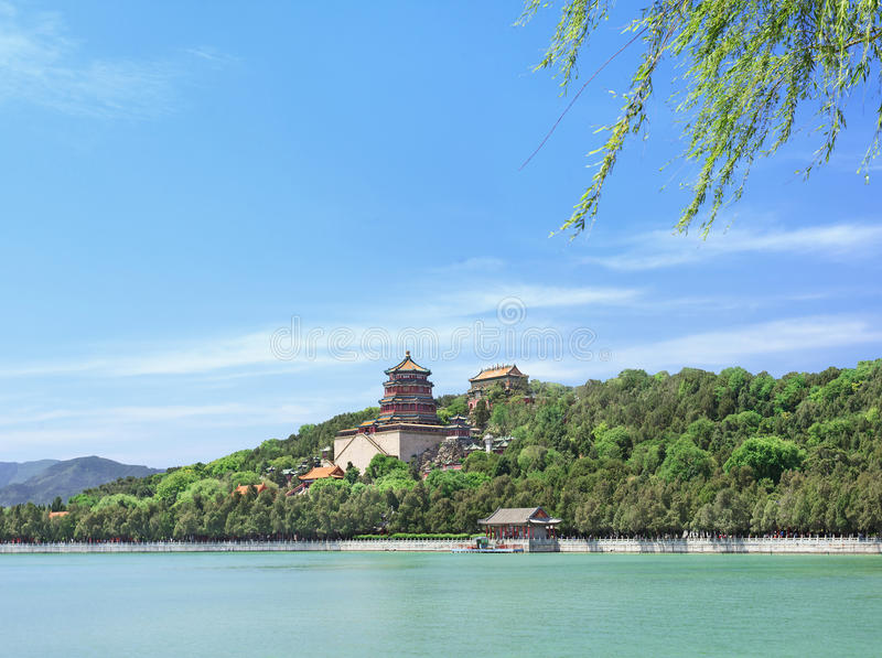 Kunming Lake at the majestic Summer Palace, Beijing, China. Kunming Lake at the majestic Summer Palace, landmark of Beijing, China royalty free stock photo
