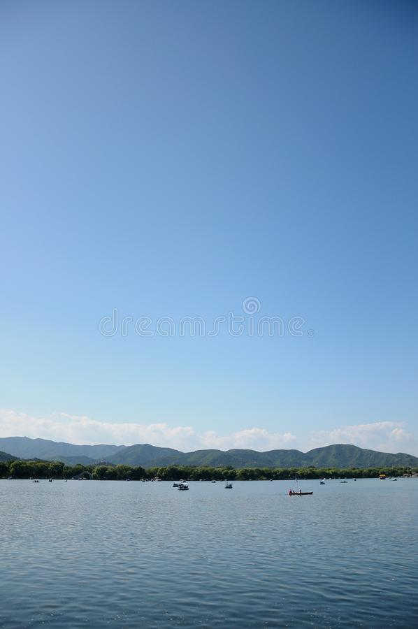 Kunming Lake. Summer Palace. Ancient China Imperial Park. royalty free stock photo