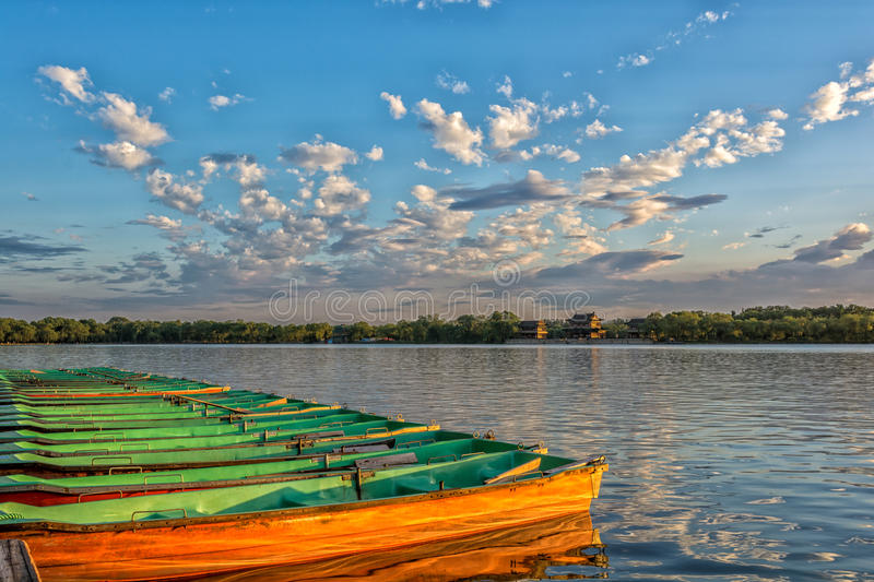 Kunming Lake. The kunming lake under the sunset in Summer Palace of Beijing, China royalty free stock image
