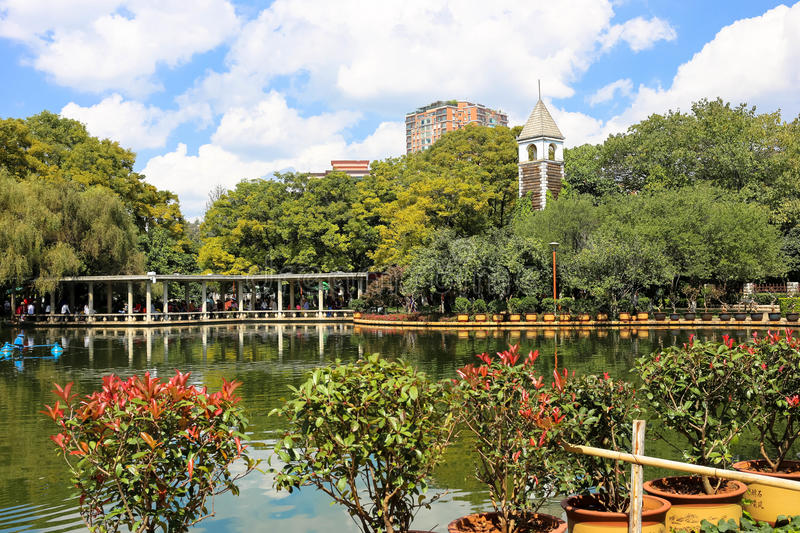 Kunming's Green Lake. The famous green lake in Kunming, China royalty free stock image