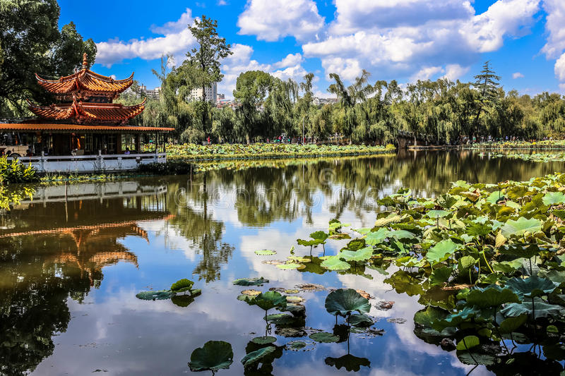 Kunming's Green Lake. The famous green lake in Kunming, China stock photo