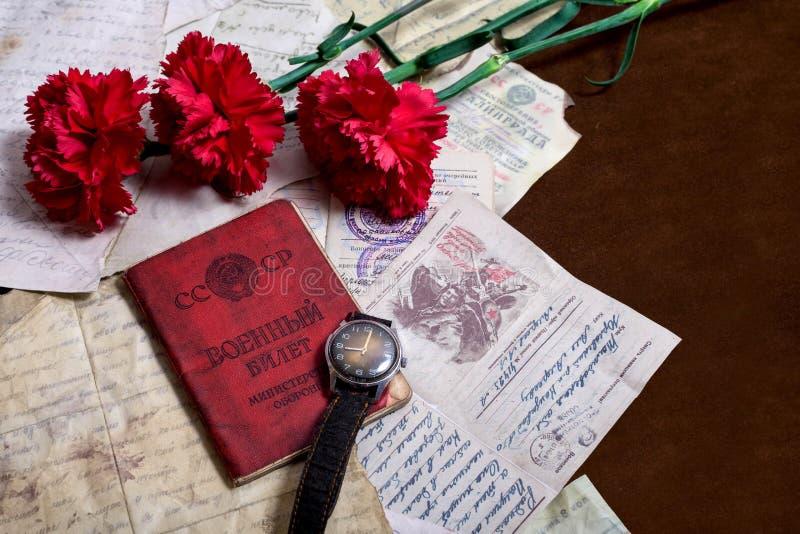 9 kunnen Stilleven gewijd aan Victory Day stock afbeeldingen