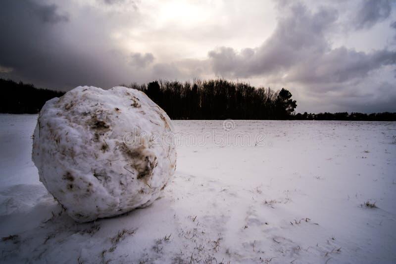 Kunnen wij een sneeuwmens bouwen? royalty-vrije stock foto