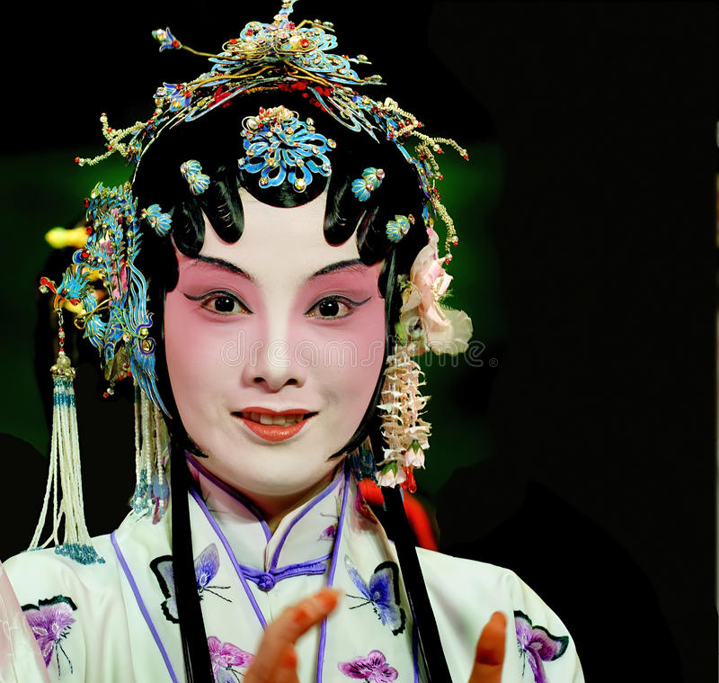 KunQu Opera actress royalty free stock image