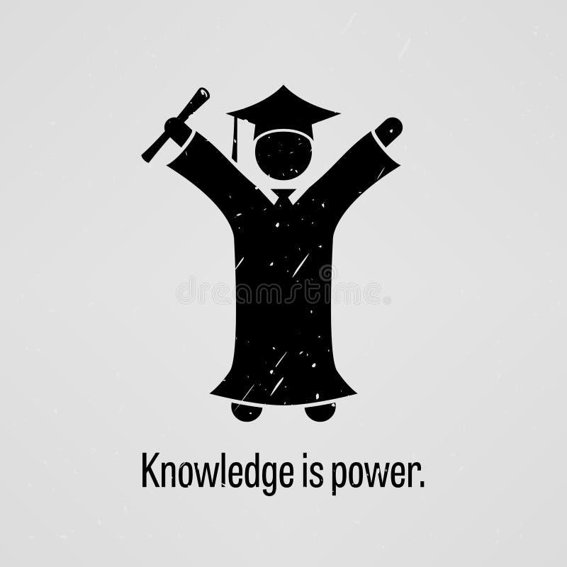 Kunskap är ström royaltyfri illustrationer