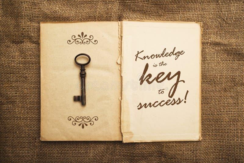 Kunskap är tangenten till framgång royaltyfria foton
