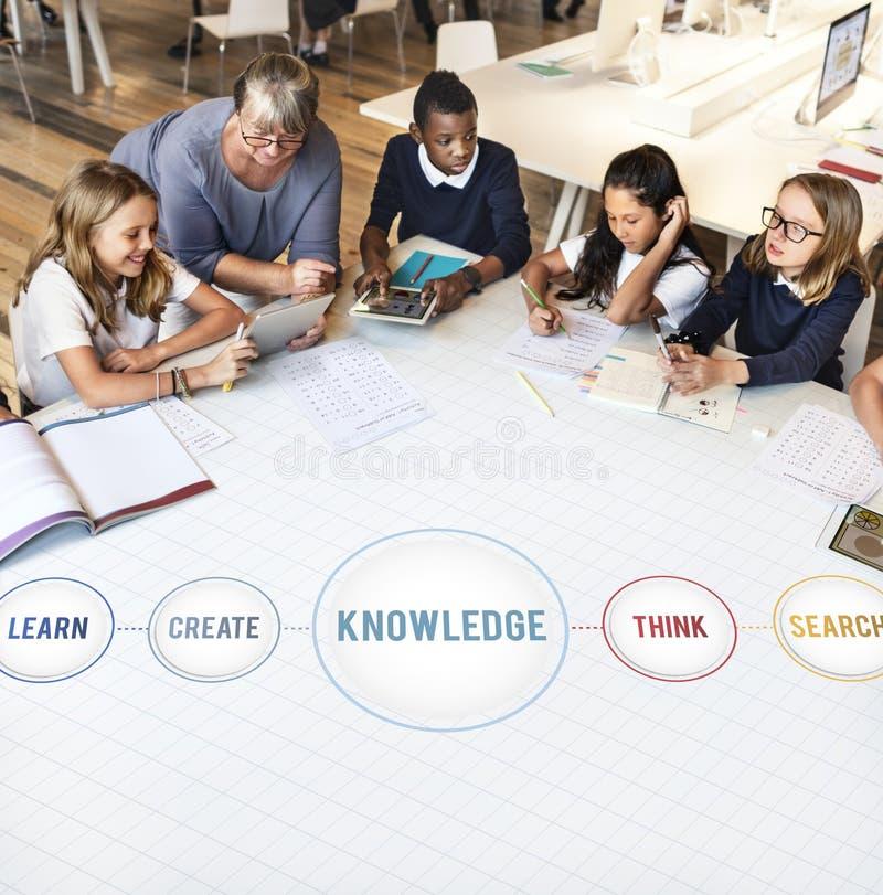Kunskap som lär begrepp för studieutbildningsintelligens royaltyfria foton