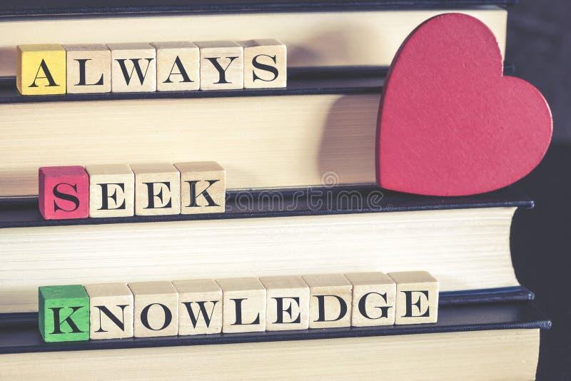 Kunskaps- och utbildningsbegrepp royaltyfri bild