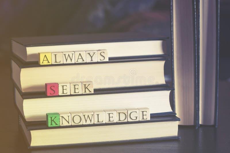Kunskaps- och utbildningsbegrepp royaltyfria bilder