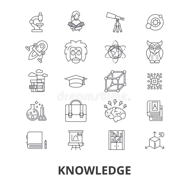 Kunskapssymbolsuppsättning stock illustrationer