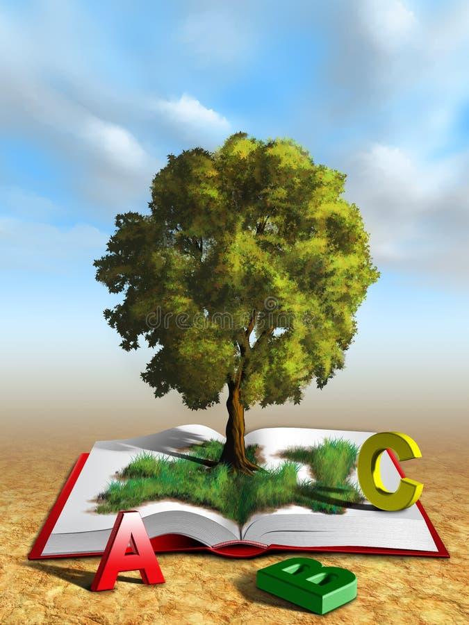 kunskapstree stock illustrationer