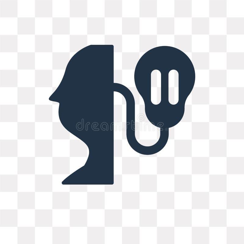Kunskapsvektorsymbol som isoleras på genomskinlig bakgrund, Knowle stock illustrationer