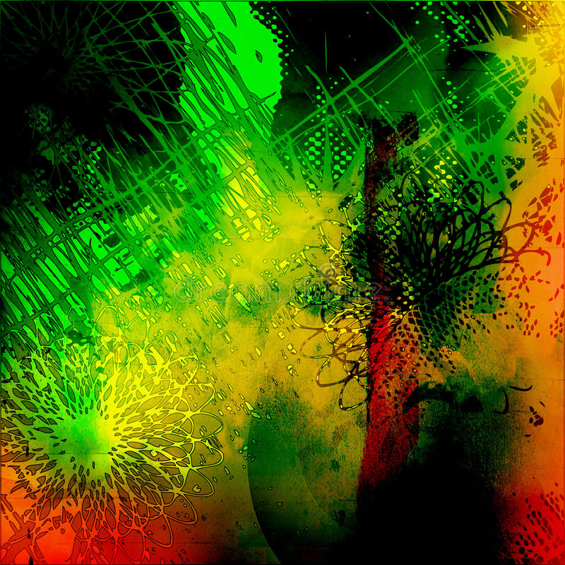 Kunst abstrakte grunge Grafik stock abbildung