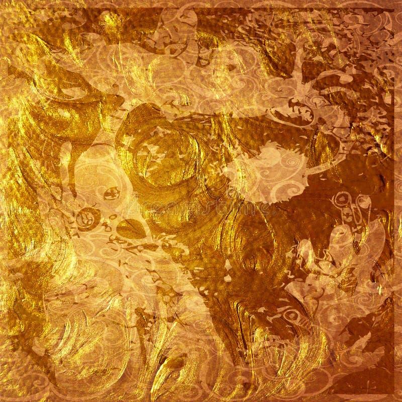 Kunst abstrakter grunge Grafikhintergrund lizenzfreie abbildung