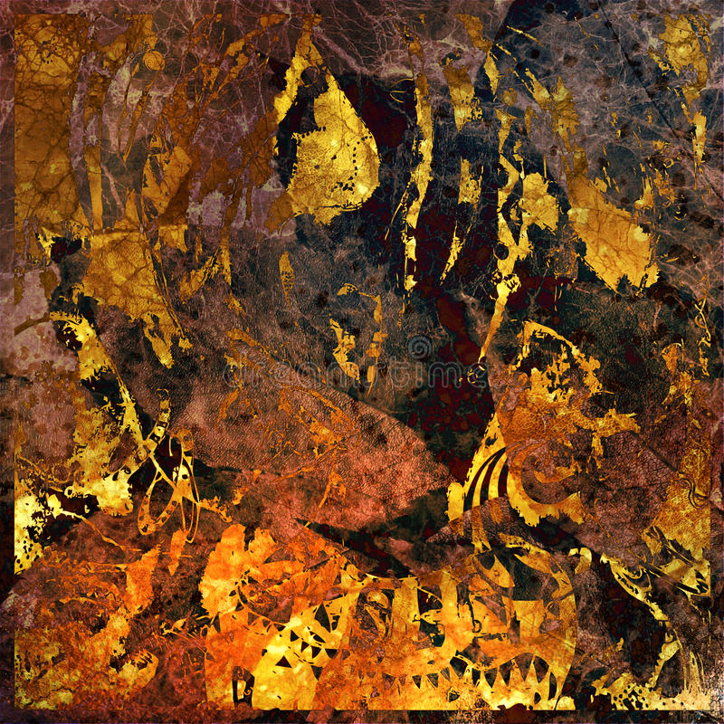Kunst abstrakter grunge Grafikhintergrund stock abbildung